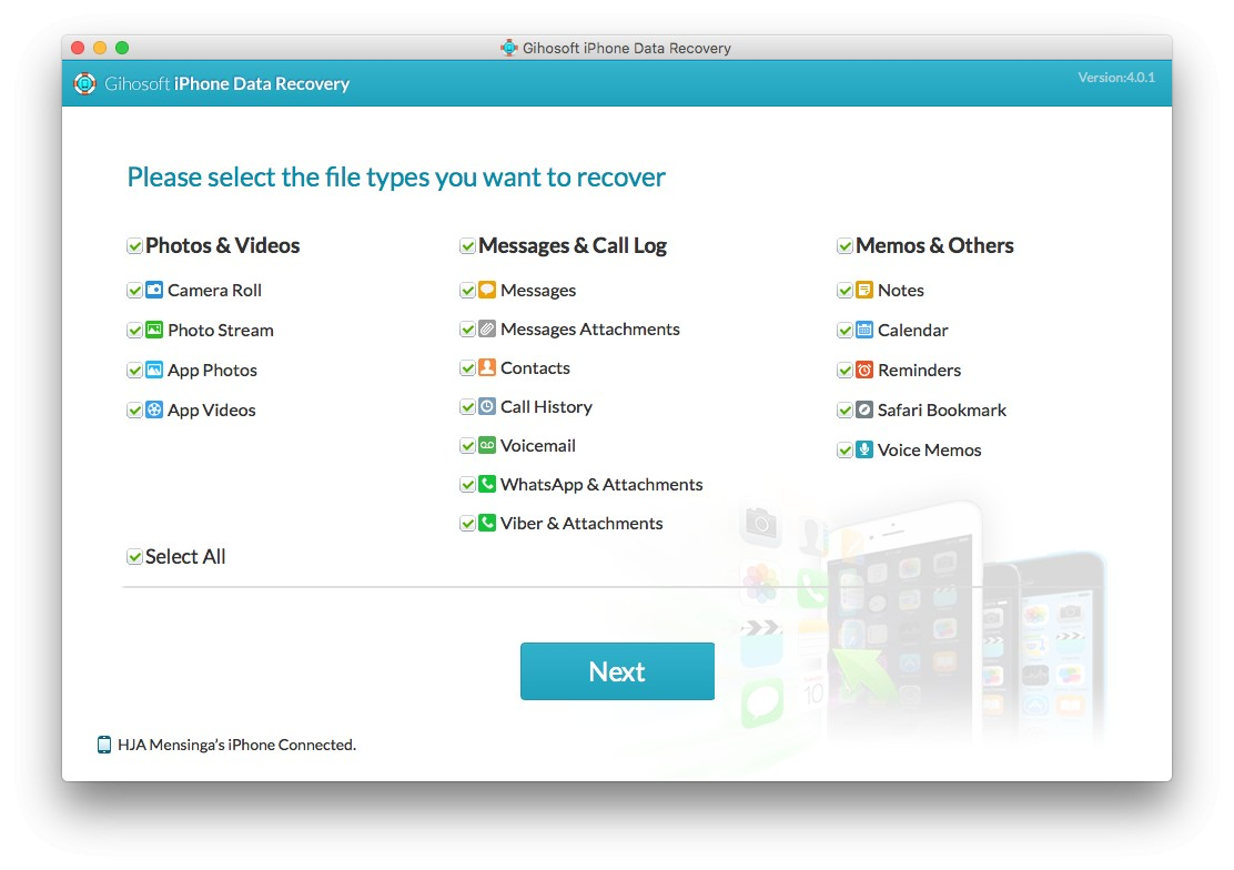 Gihosoft iPhone Data Recovery review 3