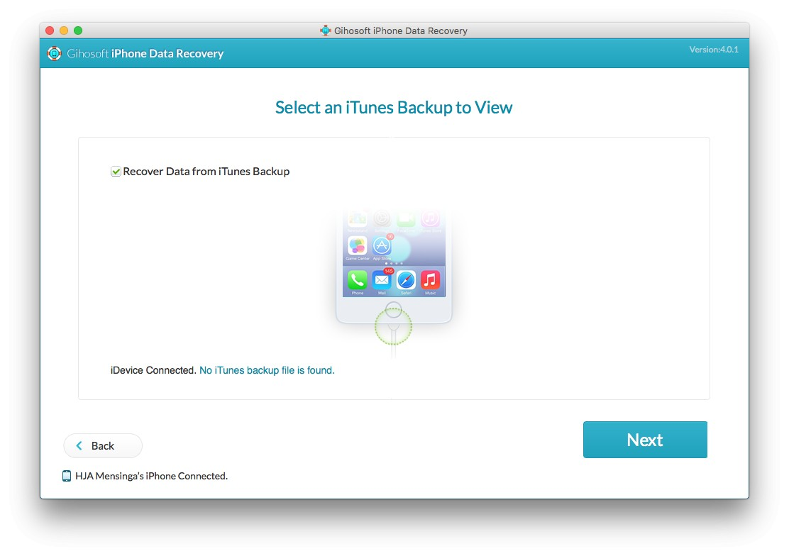 Gihosoft iPhone Data Recovery review 1