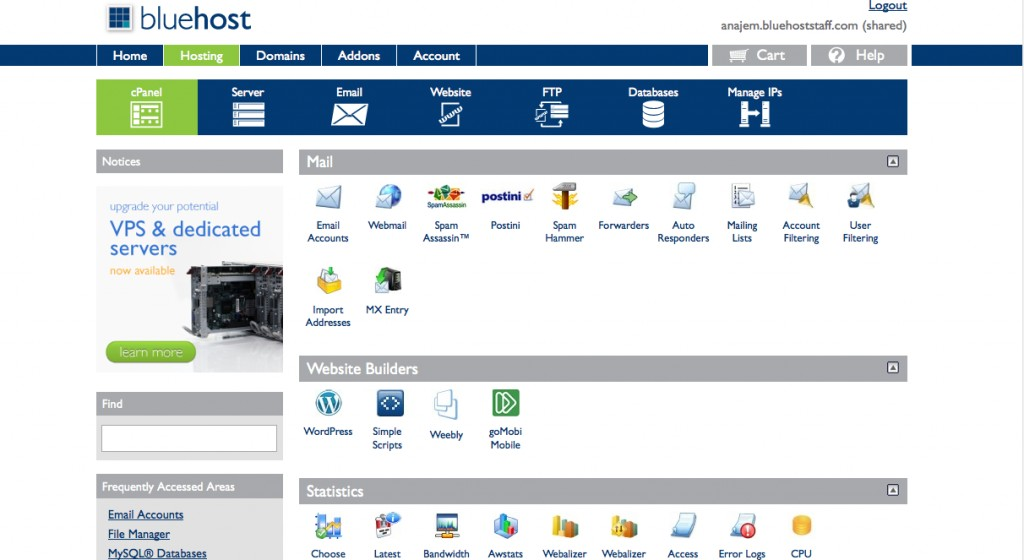 Bluehost Web hosting review 3
