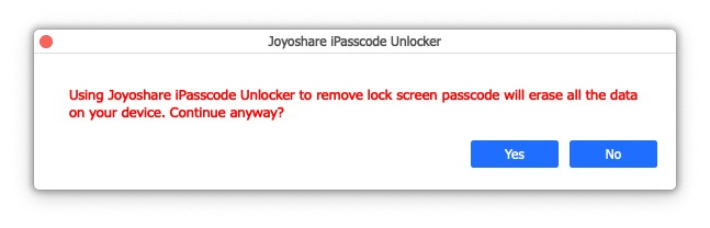 Joyoshare iPasscode Unlocker review 5