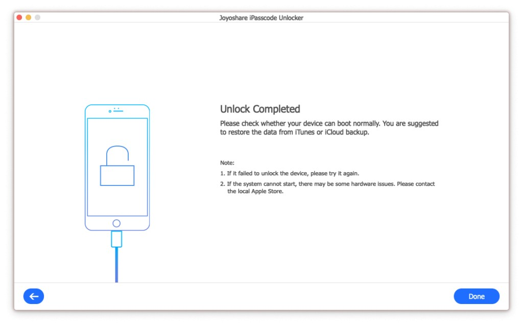 Joyoshare iPasscode Unlocker review 8